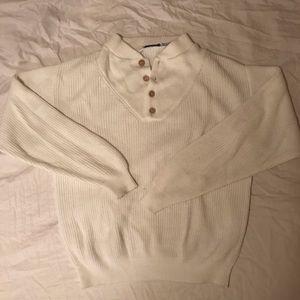 Vintage quarter button crew sweater